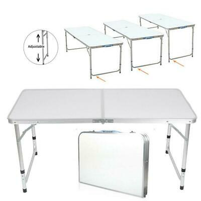 3'/ 4' Ft Aluminum Camping Folding Table Portable Office Camping Picnic BBQ