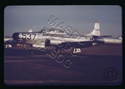 35mm Spiratone Aircraft Slide - F-94A Starfire 49-2537 NY ANG @ Williams AFB '55
