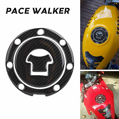 Gas Tank Cap Pad Filler Cover Sticker 3D Carbon Fiber for HONDA CBR250 400 1000