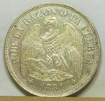 Chile Peso 1881 So Brilliant Uncirculated