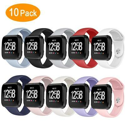 10 Packs Sport Bands Replacement Wristband for Fitbit Versa Smart Fitness Watch
