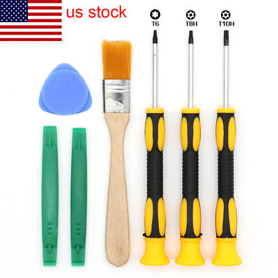 Pro 7Pcs T6 T8H T10H Screwdriver Repair Tool Kit For Xbox One/360 /PS3/PS4 US