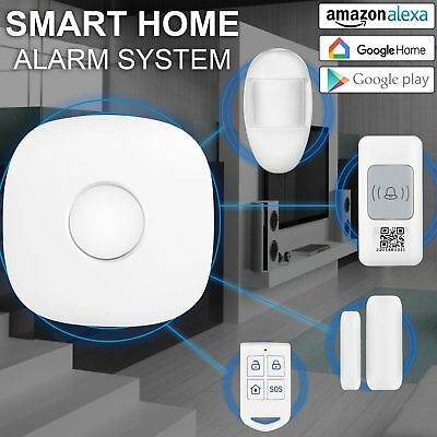 Smart WiFi Cloud Home Security Alarm System Starter Kit works with Alexa