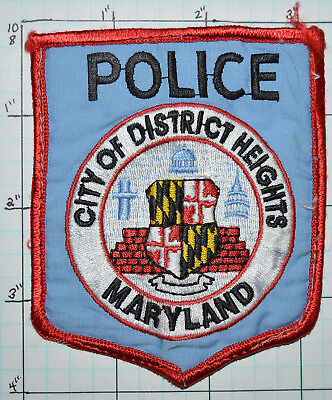 Maryland, City Of District Heights Police Dept Patch