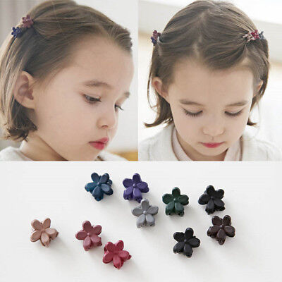 30pcs Kids Baby Girls Candy Colour Hairpins Mini Claw Hair Clips Clamp Flower