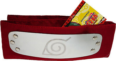 Naruto Rock Lee Leaf Village Red Cosplay Costume Headband Official License Legit