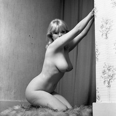 1960s John Garth Negative, gorgeous nude blonde pin-up girl Monique, t213520