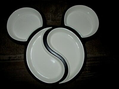 Disney Mickey Mouse Porcelain Divided  Serving Tray  Party Tray