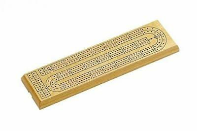 StealStreet 2423 Wooden Natural Finish 2 Track Cribbage Board with Pegs and...