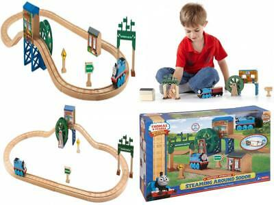 Fisher-Price Thomas The Train Wooden Railway Steaming Around Sodor Track Set