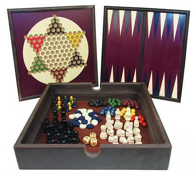 Front Porch Classics 5-in-1 Wooden Game Set