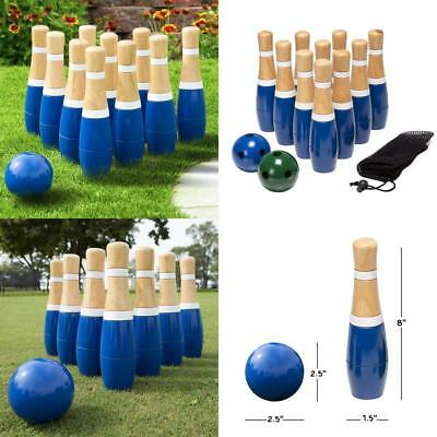 Hey! Play! Wooden Lawn Bowling Set, 8-Inch