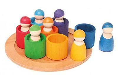 Grimm's Friends in 7 Rainbow Bowls, Multicolor