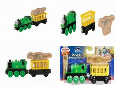 Fisher-Price Thomas The Train Wooden Railway Oliver's Fossil Freight Set of 2