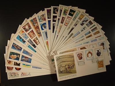 GREECE - ATTRACTIVE COLLECTION OF 1979/1986 ILLUSTRATED FDC's