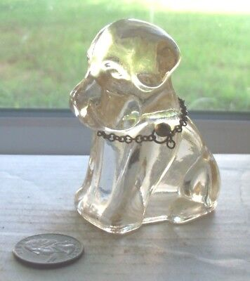 Nice  Vintage Candy Container In The Shape Of A Dog With Chain Around Neck