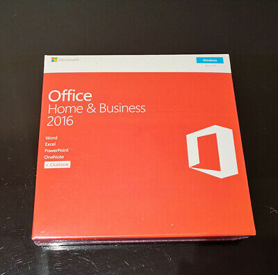 Microsoft Office Home & Business 2016 Product Key With DVD for 1 PC Sealed