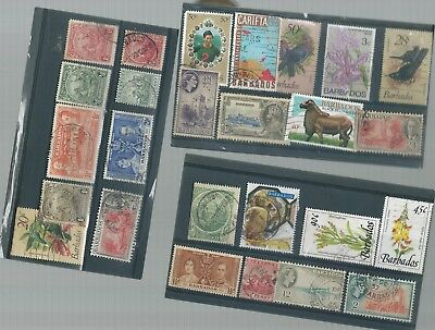 Barbados Used Stamp Collection