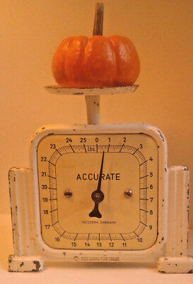 Vintage Antique Scale Western Germany Art Deco Kitchen 25 Lb Accurate