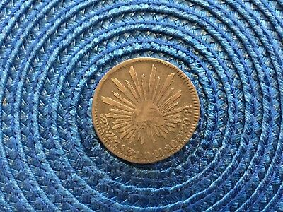 Lot # 4204 Mexico 1831 2 Real Silver Coin Z.o.m. Mint