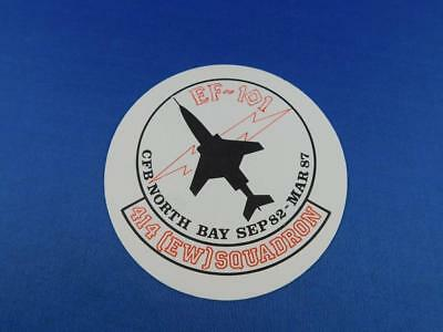 Ef 101 Cfb North Bay Sep 1982 Mar 1987 414 Ew Squadron Sticker Decal Fighter Jet