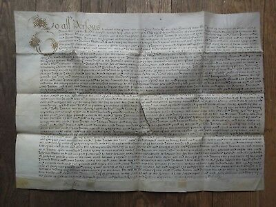 Vellum Marriage Contract.1693. Sir John Turton Of Alrewas. Mulsho Middle Temple