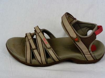 61ebe3d881ec MERRELL SAN REMO Tan Brown Beige Leather Strappy Sport Sandal Shoes ...