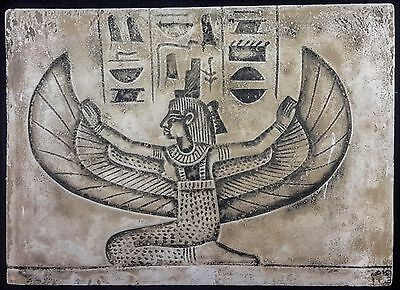 Ancient Egyptian Wall Plaque Isis In antique finish