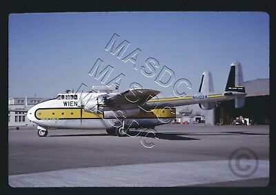 35mm Kodachrome Aircraft Slide - WIEN ALASKA C-82A JET PACKET 1600 N5102B - 1963