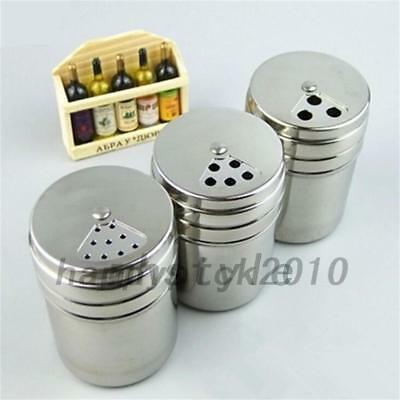 BBQ Salt Pepper Shakers Sleek Stainless Steel Pots Houseware Tableware Tool
