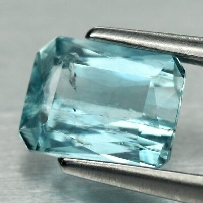 0.57ct 5.6x4.4mm Scissor-Cut Natural Unheated Light Blue Aquamarine, Brazil
