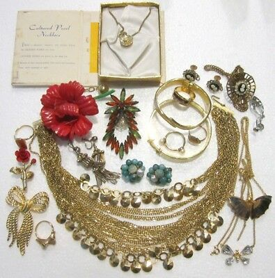 Lot of Vintage & Modern Costume Jewelry Mixed Lot F
