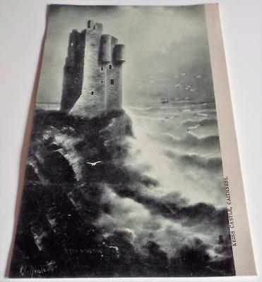 Keiss Castle - Caithness - Antique Vintage c1910 Tucks Postcard