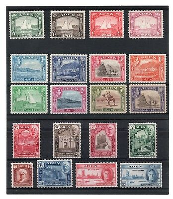 Aden 1937-46 Eclectic sel. 20 values to 10r H.Mint/HH.Mint