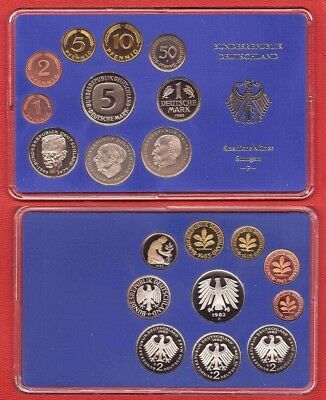1983 D Germany 10 coin Nice Cameo Proof Set