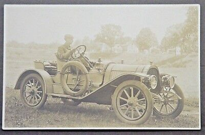 Southington CT Real Photo Postcard Bradley Barnes in Pope Hartford Automobile