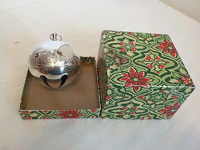 Vintage Silversmiths Silverplate 1980 #10 Christmas Bell Candles/holly W/box
