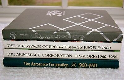 Lot/4 THE AEROSPACE CORPORATION Book Set 1960-1970, 1980 People Work, 30 Years