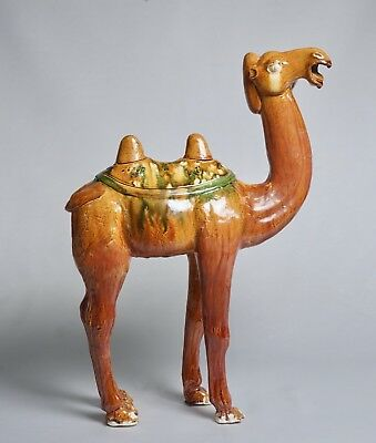 Fine Provenance Chinese Sancai Camel with Oxford TL Test - Tang Dynasty