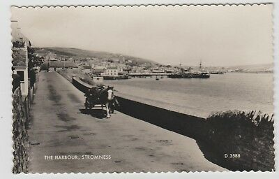 Horse & Cart, Stromness Harbour in 1958 Real Photo PPC, GVG Used.