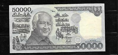 INDONESIA #136c 1997 50000 RUPIAH XF CIRC BANKNOTE PAPER MONEY CURRENCY BILL
