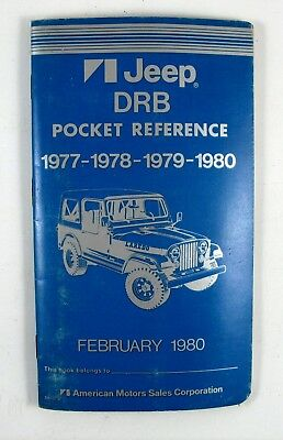 1977 1978 1979 1980 Jeep DRB Pocket Reference American Motors AMC