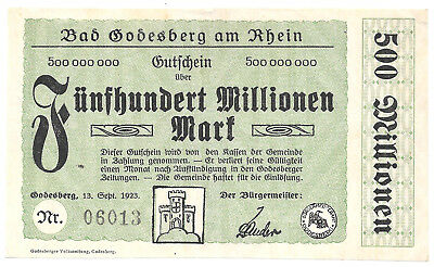 Bad Godesberg - 500 Millionen Mark - 13.9.1923
