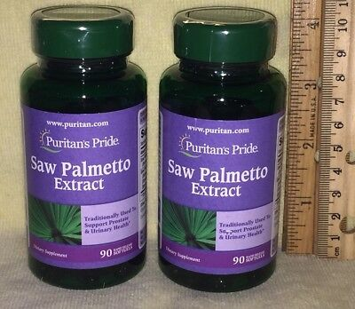 TWO, Standardized Saw Palmetto Extract (Puritan's Pride)  180 softgels (total)
