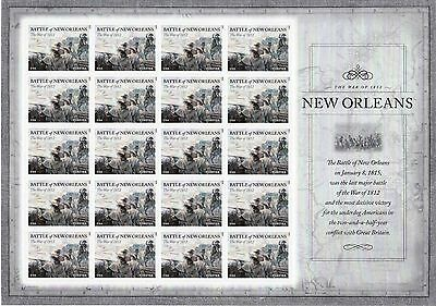 Battle Of New Orleans Stamp Sheet -- Usa #4952 Forever 2015 War Of 1812