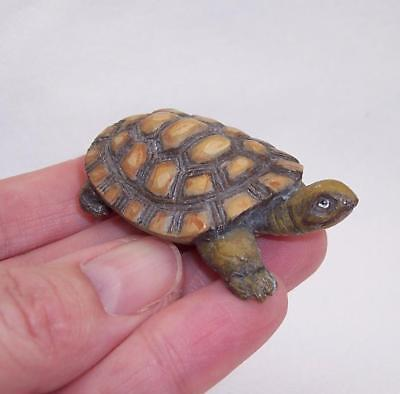 RARE Vintage COLD PAINTED BRONZE Miniature TORTOISE Turtle VERY DETAILED