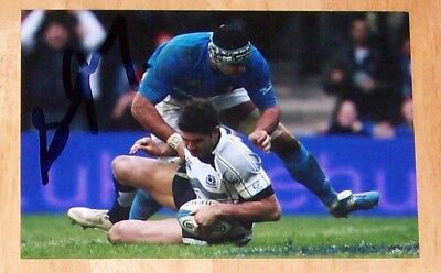 Scott Gray Scotland Rugby Personally Hand Signed Autograph Photo