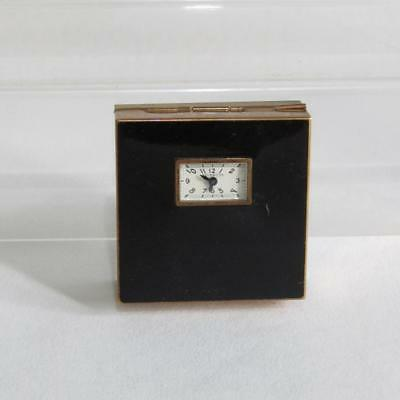 Vintage Powder Compact with Watch by Illinois Watch Case Co. I.W.C. Co