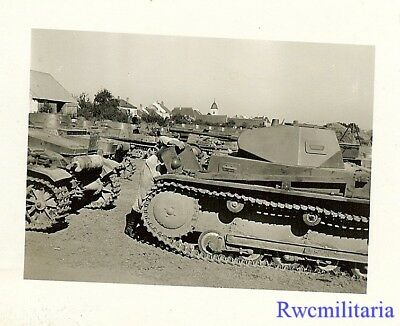 **BEST! German Pzkw.I & Pzkw.II Panzer Tanks Lined Up in Field!!!**