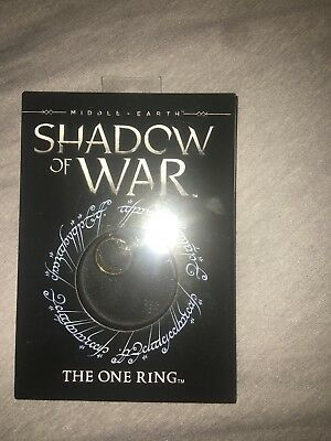 """Shadow of War The One Ring Replica with 24"""" chain Lord of the Rings Hobbit Frodo"""